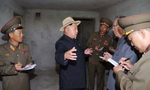Kim Jong-un visits a Pyongyang construction site. Photo released by North Korea's official KCNA news agency on 21 May 2014.