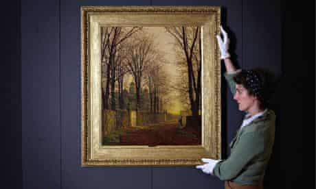 Paintings By Atkinson Grimshaw Are Prepared Ahead Of The Opening Of New Exhibition At The Guildhall