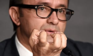 Russian director Andrey Zvyagintsev attends the press conference for Leviathan