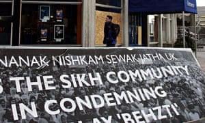 Sign condemning Behzti