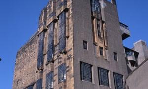 The Glasgow School of Art designed by Charles Rennie Mackintosh, ca. 1899.