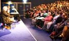 Neil Gaiman and Chris Riddell on stage at the Edinburgh International Book Festival