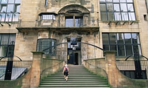 The Charlies Rennie Mackintosh building at the GSA before the fire