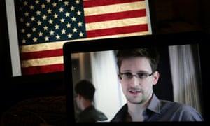 Edward Snowden during an online Q&A