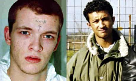 Robert Stewart (left), who battered his cellmate, Zahid Mubarek (right), to death in March 2000