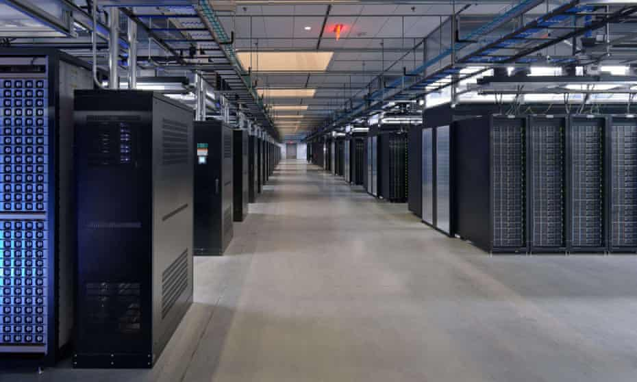 A server room at Facebook