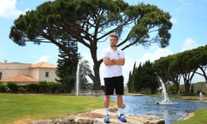 England's Luke Shaw poses for the photographers at the Vale Do Lobo Resort in Portugal.