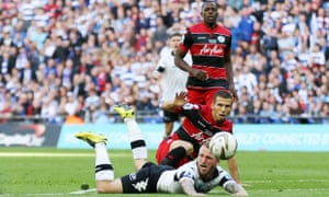 QPR's Gary O'Neil earns a red card for this tackle on Derby's Johnny Russell.