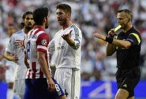 Champions League..: Atletico Madrid's midfielder Raul Garcia