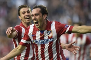 Champions League...: Atletico Madrid's Uruguayan defender Die