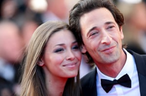 Adrien Brody and his girlfriend Lara Lieto attend the Closing Ceremony.