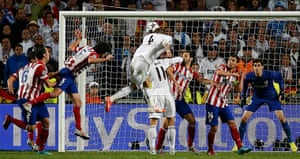 Champions League-: Real Madrid's Ramos shoots and scores