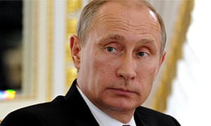 Vladimir Putin in St Petersburg where he said alleged remarks by Prince Charles were unacceptable