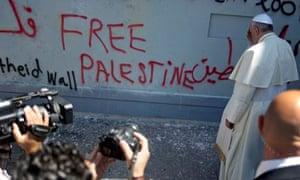 Pope Francis visits Israel's separation barrier in Bethlehem