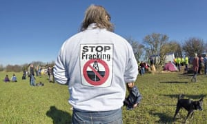 Anti-fracking campaigners at Barton Moss near Manchester