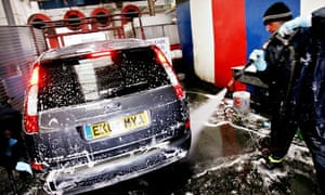 An American-style car wash in England.