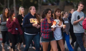 Students in Santa Barbara mourn victims of Rodger.