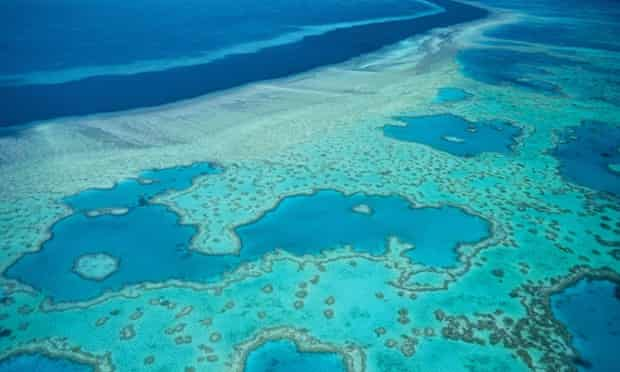The Great Barrier Reef, which is threatened by dredging, dumping and climate change.