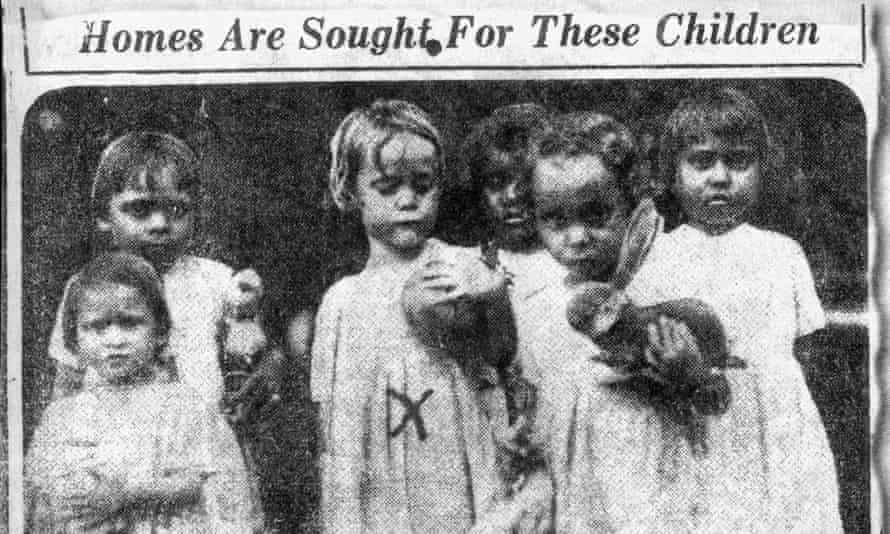 1934 newspaper clipping asking for homes for Indigenous children