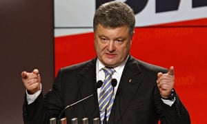 President Petro Poroshenko vowed to bring an end to the chaos in eastern Ukraine