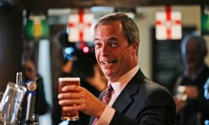 "Nigel Farage: not ""a normal bloke down the pub"", says David Cameron."