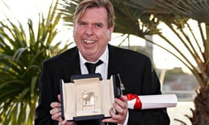 Timothy Spall with his best actor award at the 2014 Cannes film festival