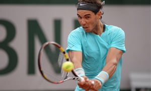 Rafael Nadal dispatched the American Robby Ginepri in straight sets at the French Open