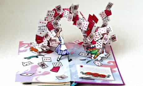 Alice in Wonderland pop-up book