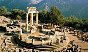 A sacred perch … the temple of Athena at Delphi.