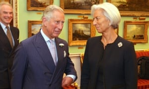 Prince Charles, Prince of Wales talks to Christine Lagarde, Managing Director of the International Monetary fund, before the start of the Inclusive Capitalism Conference at the Mansion House on May 27, 2014 in London, United Kingdom.
