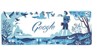 Rachel Louise Carson's 107th birth anniversary marked by a Google doodle