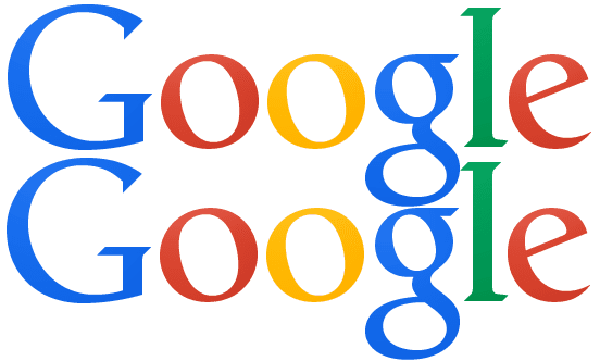 Spot the difference: The two versions of Google's logo.