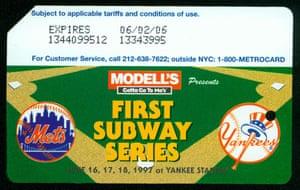 MetroCard subway series