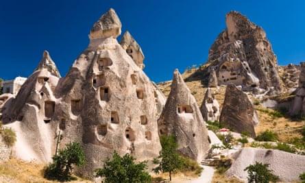Underground city at Uchisar, in Cappadocia