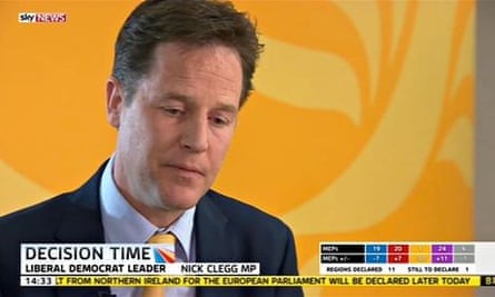 Nick Clegg, the Liberal Democrat party leader