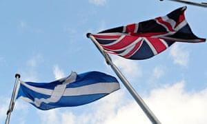 Scottish and UK flags