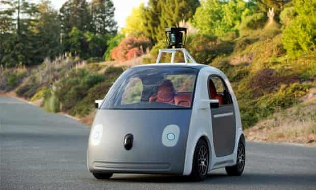 Google's prototype driverless car has been unveiled at the company's California headquarters.
