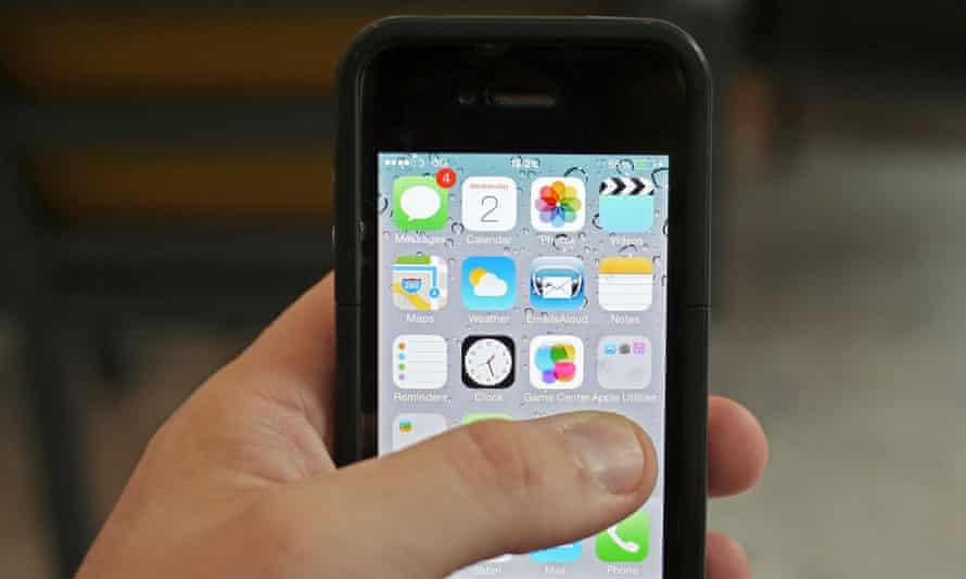 An iPhone: some users in Australia and elsewhere have had 'ransom' demands after their phones were remotely locked by a hacker.