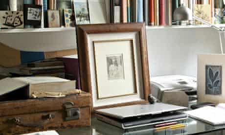 Andrew Motion's desk