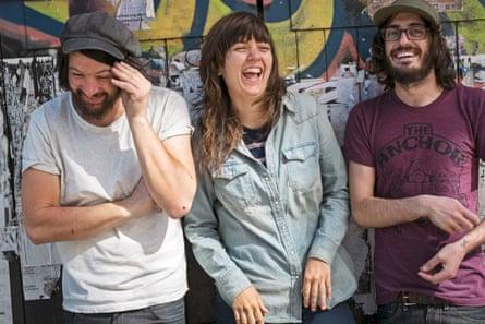 Courtney Barnett on tour: Dave Mudie, Courtney Barnett, Bones Sloane.