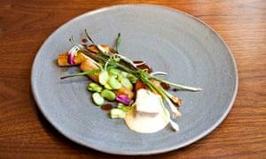 Fera restaurant: pork with caramelised leek