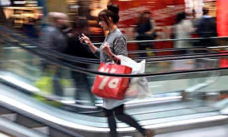 A shopper at Westfield, Stratford