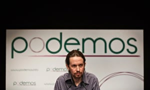 "Pablo Iglesias, head of leftist group ""Podemos"","