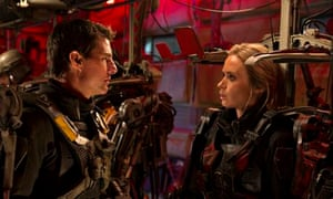 Almost equal: Tom Cruise as Cage and Emily Blunt as Rita in sci-fi blockbuster Edge of Tomorrow