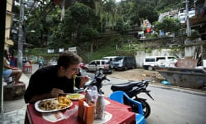 Lunch at Restaurante 48 in Tabajaras favela, tucked into Rio's Copacabana district. Photograph: Vict