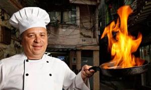 Glimário Joao dos Santos, chef of a restaurant in the Rocinha favela. Photograph: Marcos Pinto