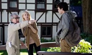 Blue Jasmine, From Left: Director Woody Allen, Cate Blanchett, Alden Ehrenreich