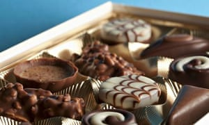 Detail of chocolates in a box. Image shot 2012. Exact date unknown.