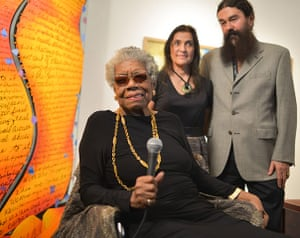 Maya Angelou in pictures: Maya Angelou, Carol Iselin and David Sugar