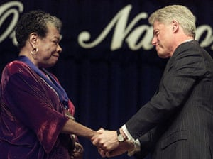 Maya Angelou in pictures: Maya Angelou and Bill Clinton
